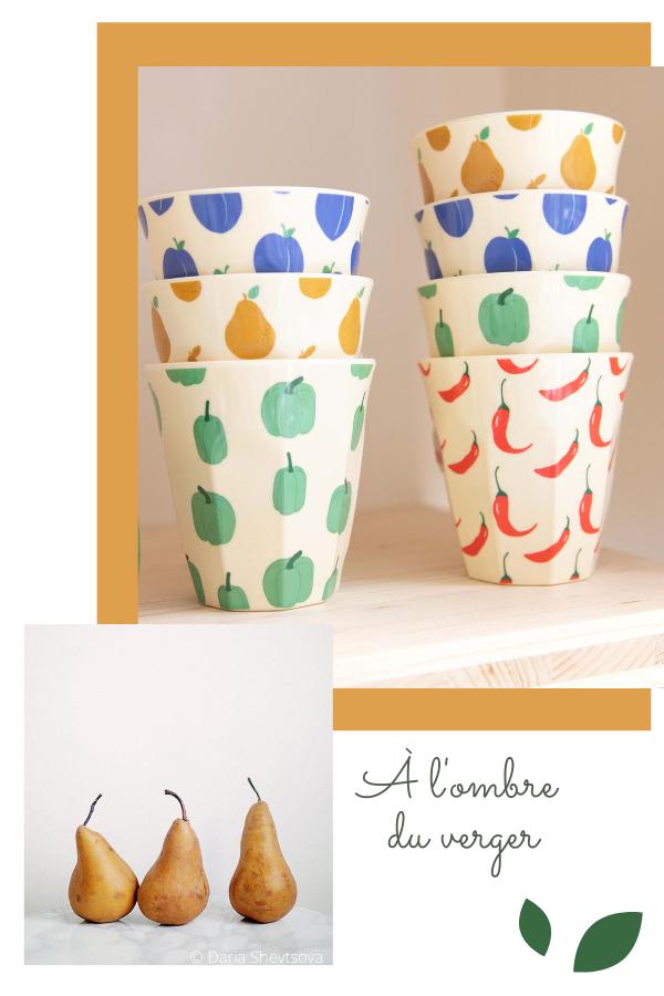 Vaisselle colorée - Lunch box et verres