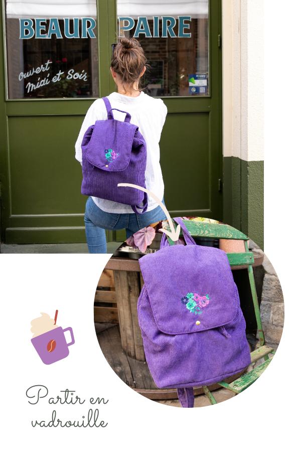 Collection Purple Gispy - Sac à dos