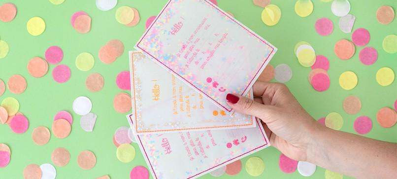 Cartes, invitations anniversaire