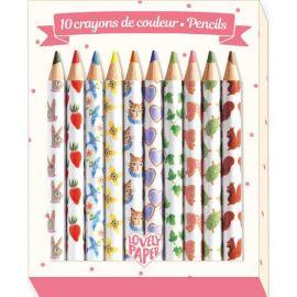 DJECO - 10 minis crayons de couleur