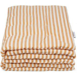 LIEWOOD - Plaid couverture rayure moutarde