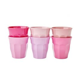 RICE - 6 gobelets à expresso rose