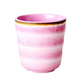 RICE - Verre aspect céramique rose