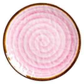 RICE - Assiette aspect céramique rose