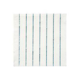 MERI MERI - Serviettes en papier rayures bleues