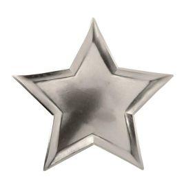 Assiettes en carton étoiles argenté Meri Meri