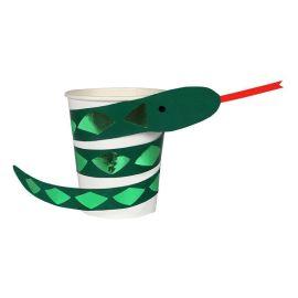 MERI MERI - Gobelets carton serpent vert