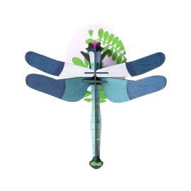 Trophée libellule bleue