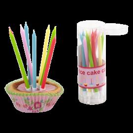 Bougies d'anniversaire multicolores