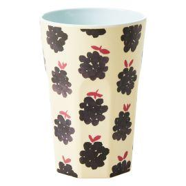 RICE - Long mug en mélamine mûre