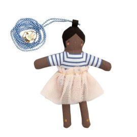 MERI MERI - Collier perles bleues poupée