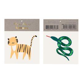MERI MERI - Tattoos temporaires animaux sauvages