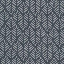 Toile cirée feuilles géométrique noir et blanc