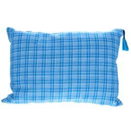 Coussin à carreaux bleus Bonheur du jour x Le petit souk