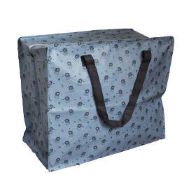 Jumbo bag bleu motif lions