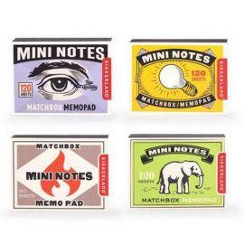 4 minis blocs notes allumettes