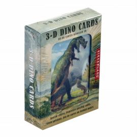 Cartes à jouer dinosaures effets 3D
