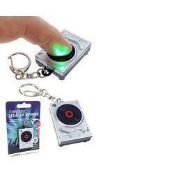 Porte-clés tourne disque lumineux