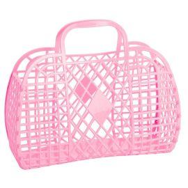 Sac panier plastique rose