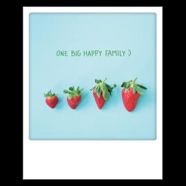 Carte postale polaroid big family