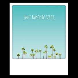 Carte postale polaroid rayon de soleil