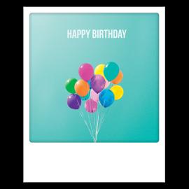 Carte postale polaroid birthday colour