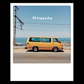Carte postale polaroid oh happy day