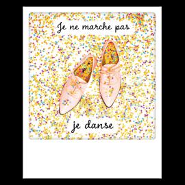 Carte postale polaroid  je danse