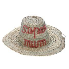 Chapeau en paille super mum