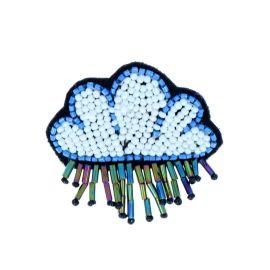 Broche nuage et perles