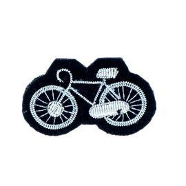 Broche vélo argent