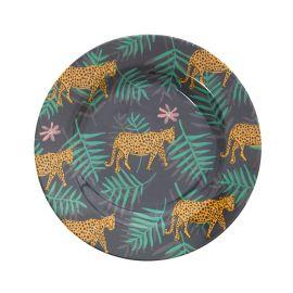 Assiette léopard jungle