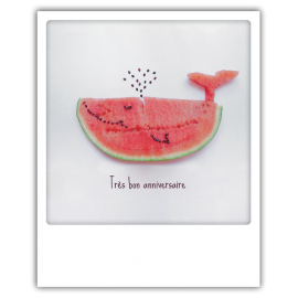 Carte postale polaroid anniversaire