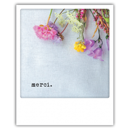 Carte postale polaroid merci