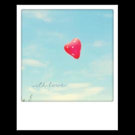 Carte postale polaroid with love