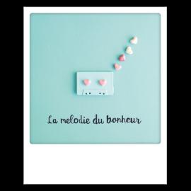 Carte postale polaroid mélodie bonheur