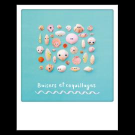 Carte postale polaroid coquillages