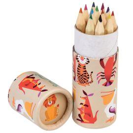 Boîte de 12 crayons créatures