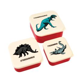 Lot de 3 lunch box dinosaures