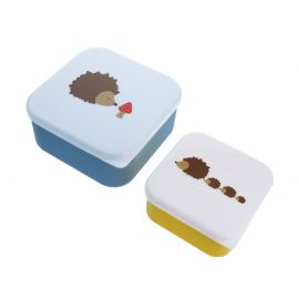 Lot de 2 lunch box motif hérisson