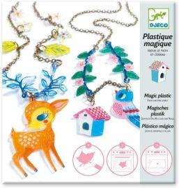 Bijoux plastique magique Le faon et l'oiseau
