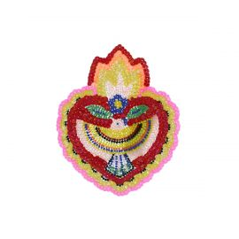 Écusson brodé coeur mexicain