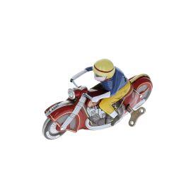 Moto rouge vintage en métal