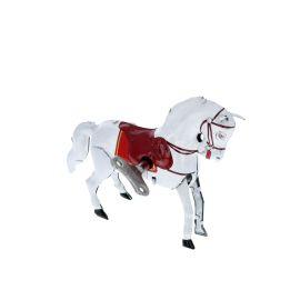 Cheval blanc vintage en métal