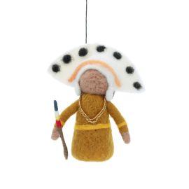 Suspension en laine indien coiffe