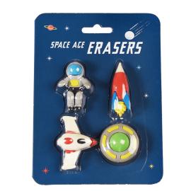 Lot De 4 Gommes astronaute