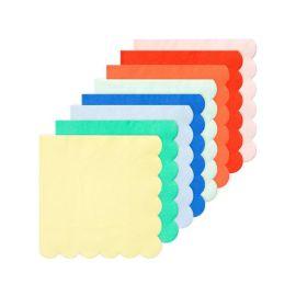 Lot de 20 serviettes colorées