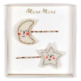 MERI MERI - Barrettes lune et étoile