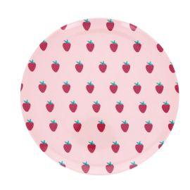 Assiette fraise en mélamine