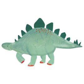 Assiettes en carton dinosaure bleu